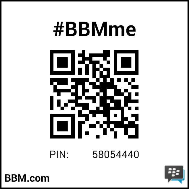 PIN BBM Saya :  58054440