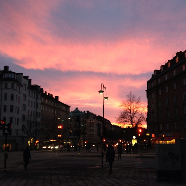 sunset over vasastan, stockholm