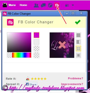 Tukar Warna Tema dan Background Facebook!