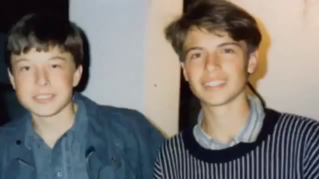 Elon Musk young with brother teenage entrepreneurs