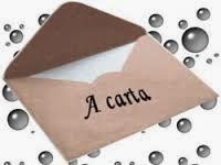 A carta está borrada