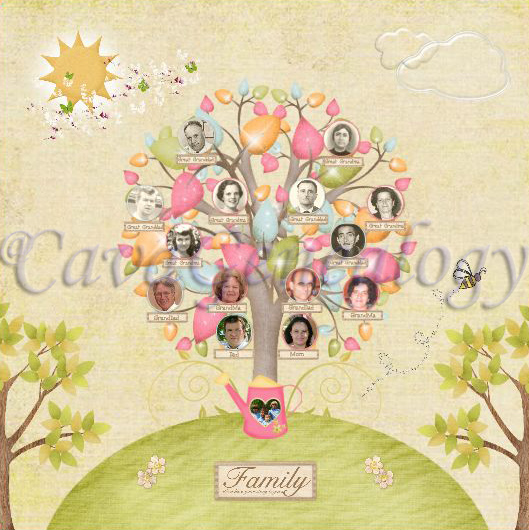 Preserving Heritage: Very Colorful Family Tree