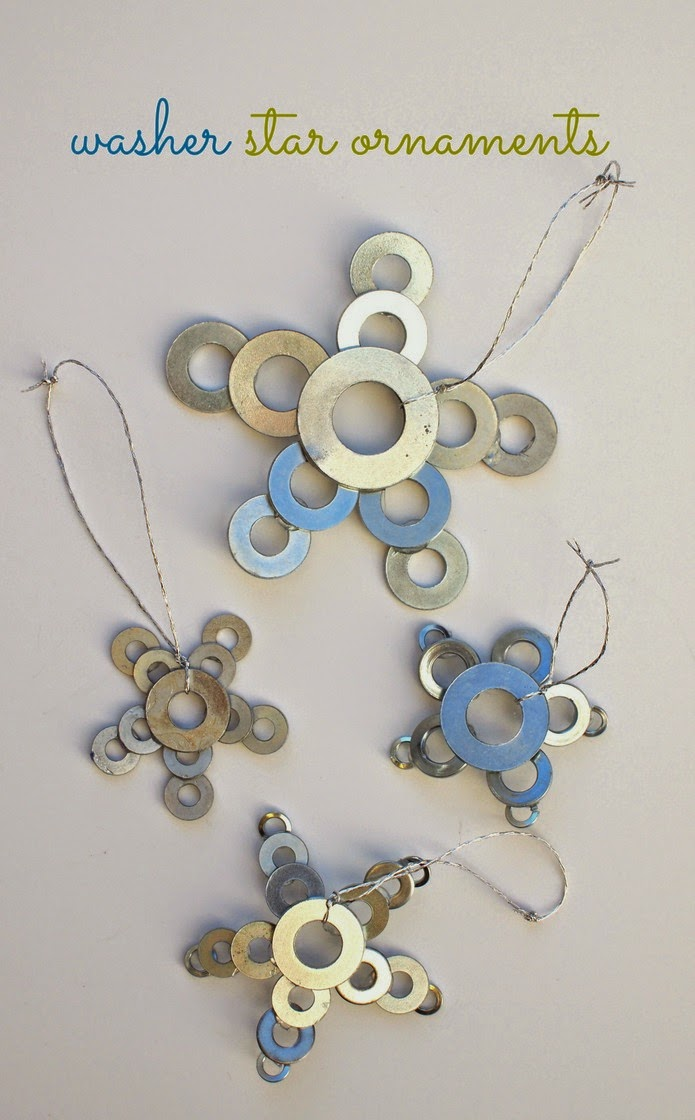 DIY Washer Christmas Ornaments- Easy to make, fun to give!
