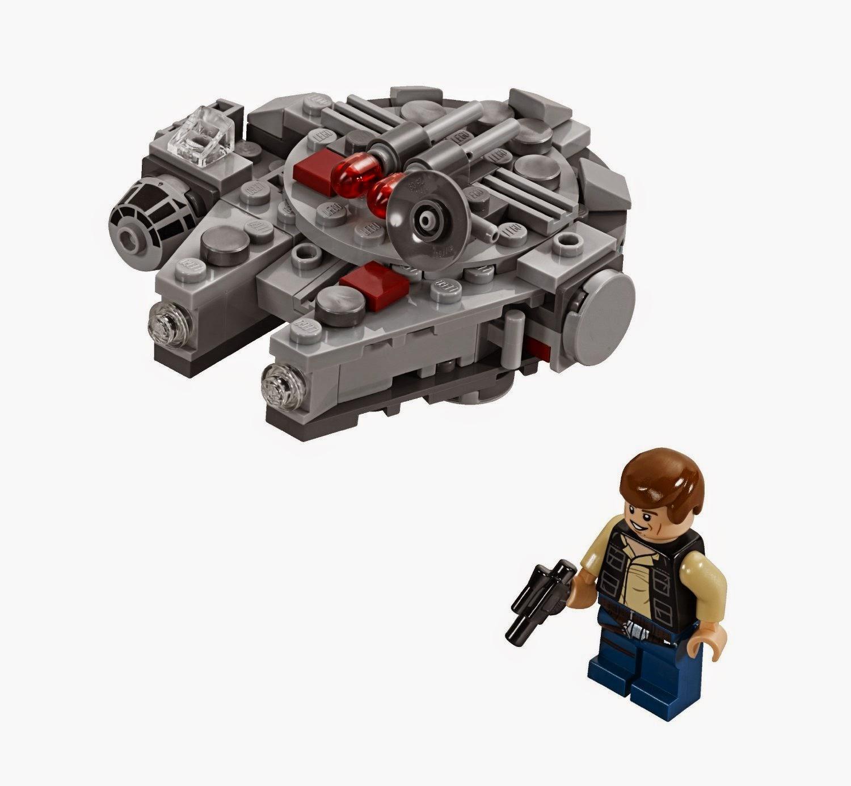 Versión mini del Halcón Milenario Lego Star Wars que incluye Han Solo con pistola