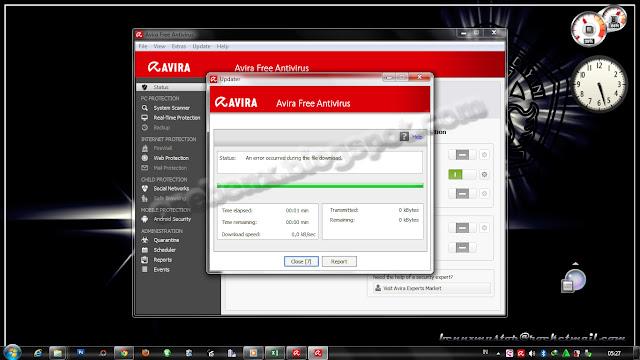 Antivir Avira: Virus Definition File manual update