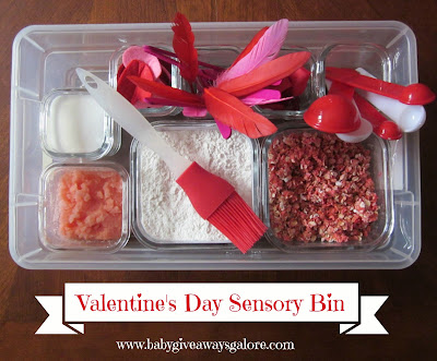 Valentine's Day, sensory bin, toddler, craft