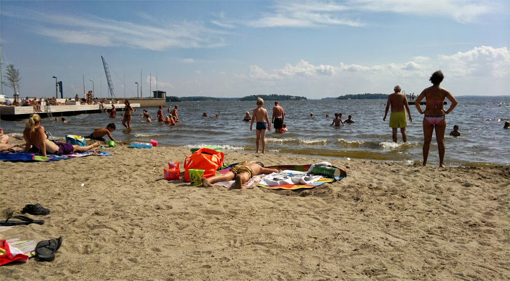 """nya stranden """"Lögastrand"""" i Västerås"""