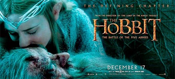 """Banner de """"El Hobbit: La Batalla de los Cinco Ejércitos"""""""