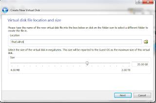 virtual box create new virtual disk