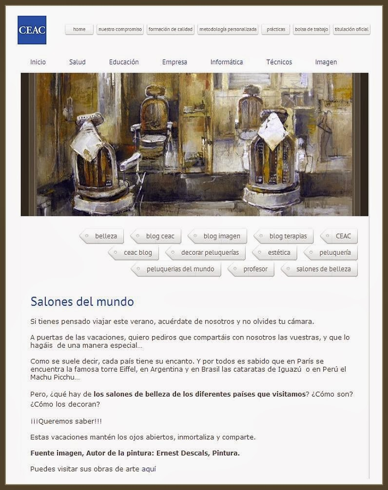 CEAC-SALONES-MUNDO-BARBERIAS-ANTIGUAS-MANRESA-CATALUNYA-PINTURA-PINTOR-ERNEST DESCALS
