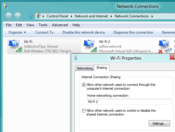how to open network connections in windows 7 command