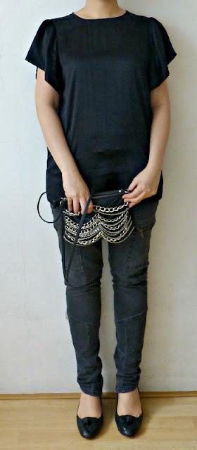 armani-exchange-black-silk-blouse