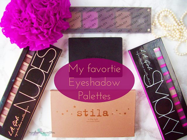 Favorite, eyeshadows, inglot, LA girl, stila, Gosh