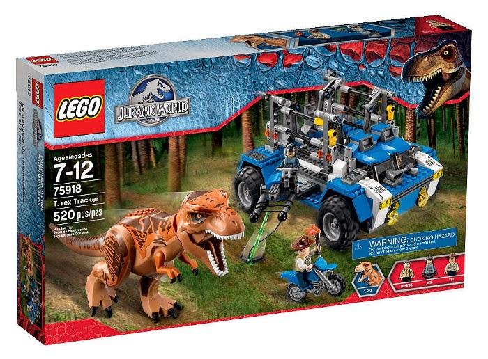 JUGUETES - LEGO Jurassic World  75918 Tras el T-Rex  T-Rex Tracker   Producto Oficial Película 2015 | Piezas: 520 | Edad: 7-12 año