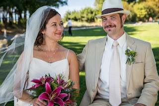 Alisha and Drew at Golden Gardens - Patricia Stimac,Seattle Wedding Officiant