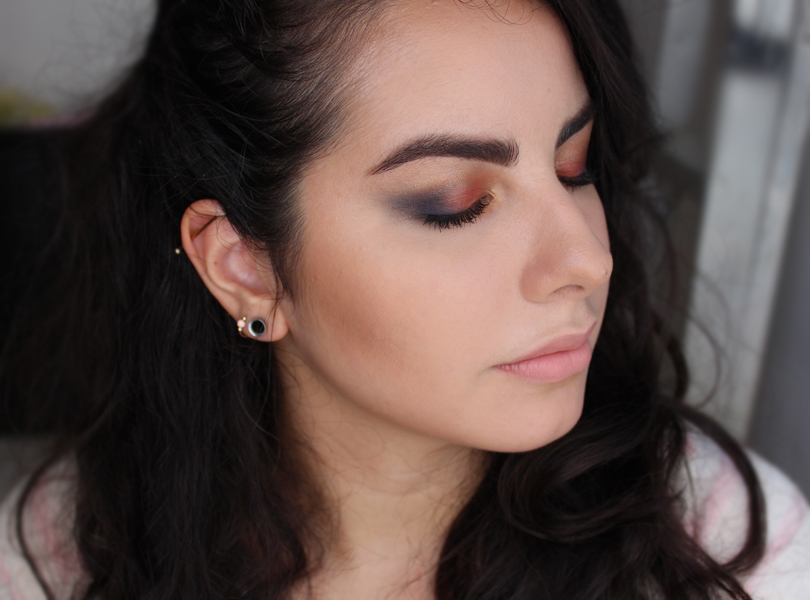 easy ideas halloween orange black makeup look smokey eye mac coastal scents