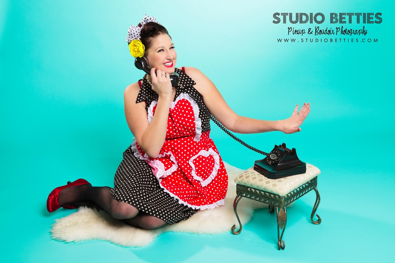 Studio betties pin up boudoir photography Easter at The Virtual Vine