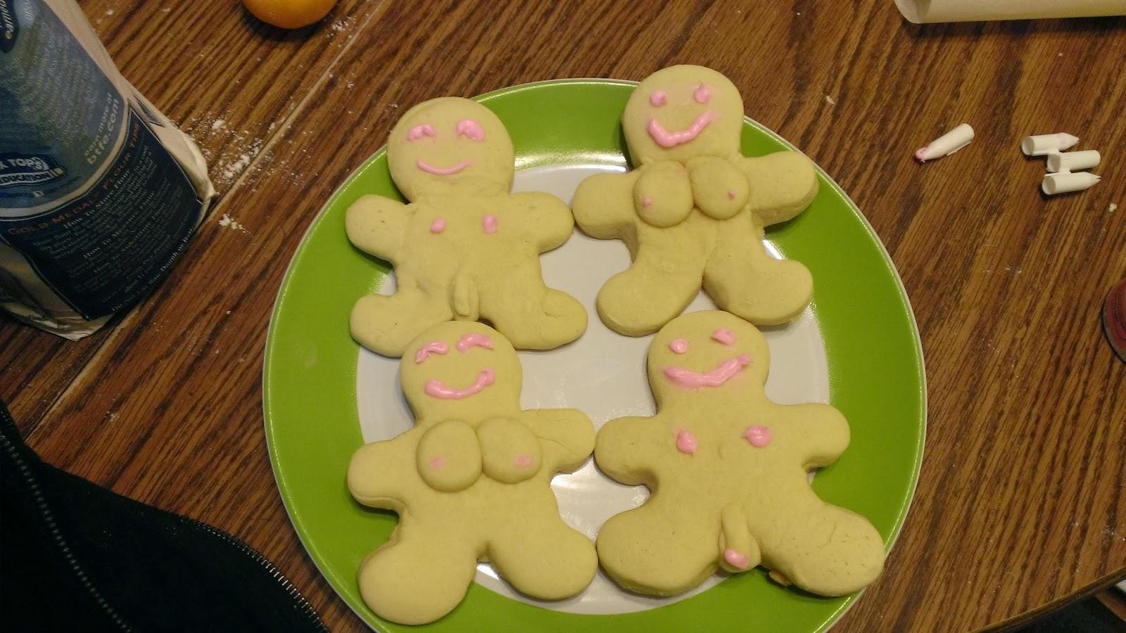 Thinking Naked: Nudist Christmas Cookies!