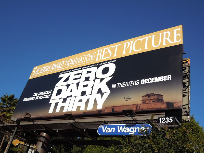Zero Dark Thirty Oscar billboard