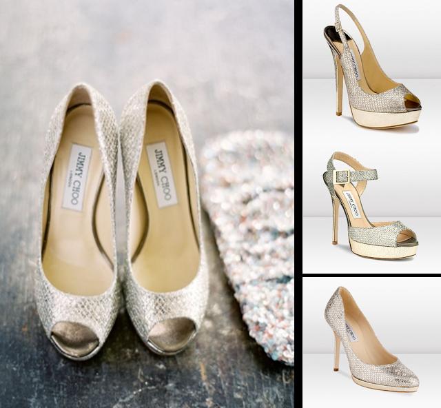 Zapatos glitter Jimmy Choo para novia