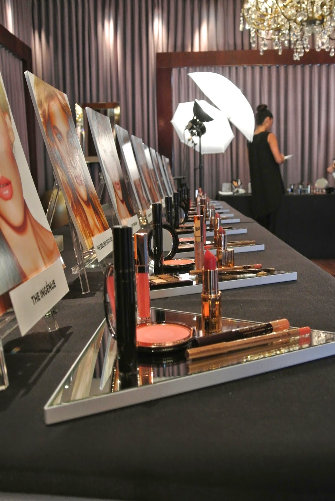 Charlotte Tilbury products on table.