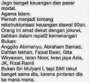 Pesan Berantai Soal Kriteria Cawapres Jokowi Beredar