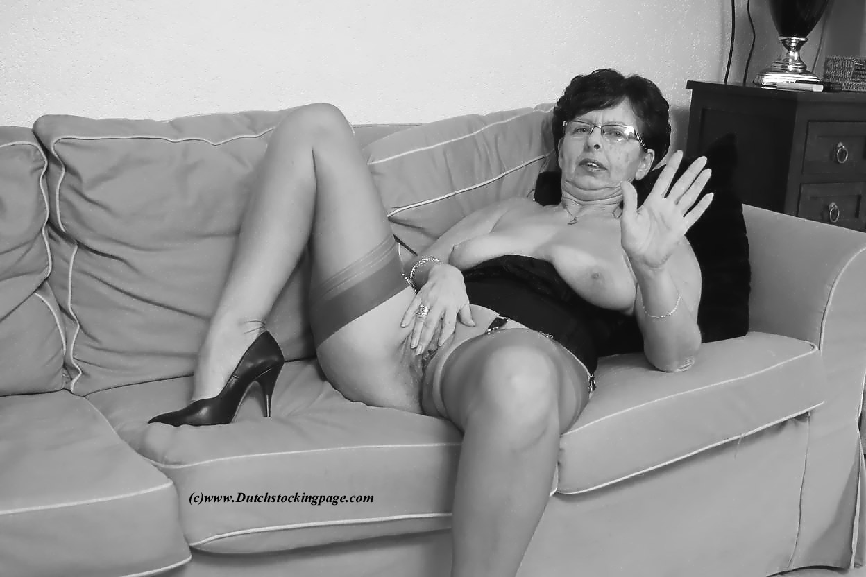 older women in nude pantyhose