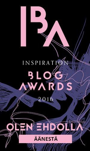 Äänestä blogiani IBA Awardeissa!