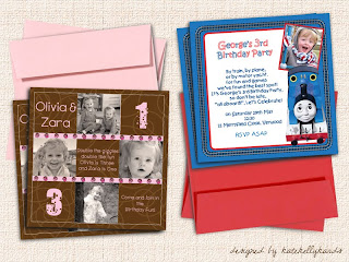 Kiddies Printed Card Invite