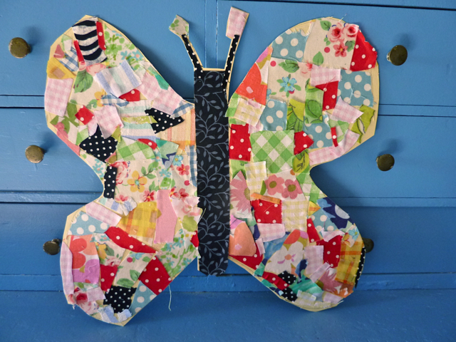 My rose valley scrappy tips craft a butterfly for Arts and crafts for 2 year olds