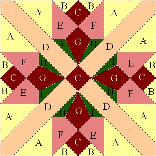 Patron Saint Quilts: Quilt Block In Honor Of St. Therese
