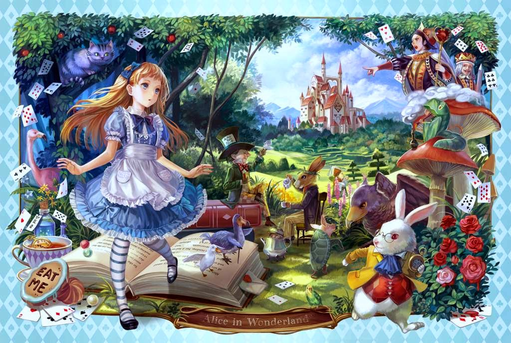 alice in wonderland cartoon wallpapers hd