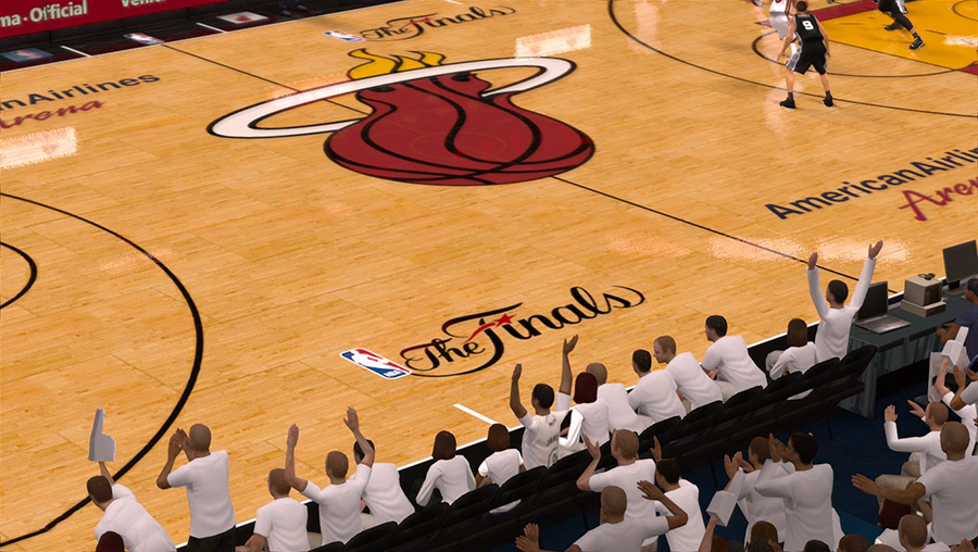 NBA 2K14 Heat The Finals Court Mod