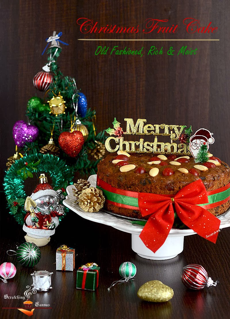 Old Fashioned Rich & Moist Christmas Fruitcake - Scratching Canvas