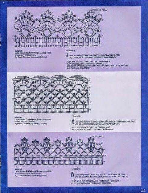 3 hermosas puntillas esquemas crochet para descargar - Hacer puntillas de ganchillo ...