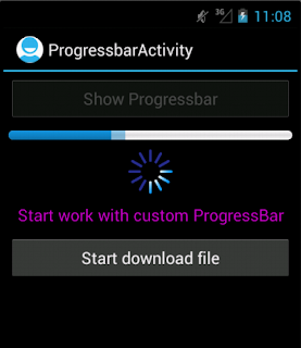 Android Custom ProgressBar And ProgressDialog Example