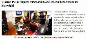 Classic Pubs Inspire Truman's Gentlemen's Groomers in Norwich!