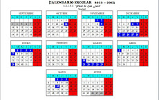 Calendario escolar Curso 2012-2013