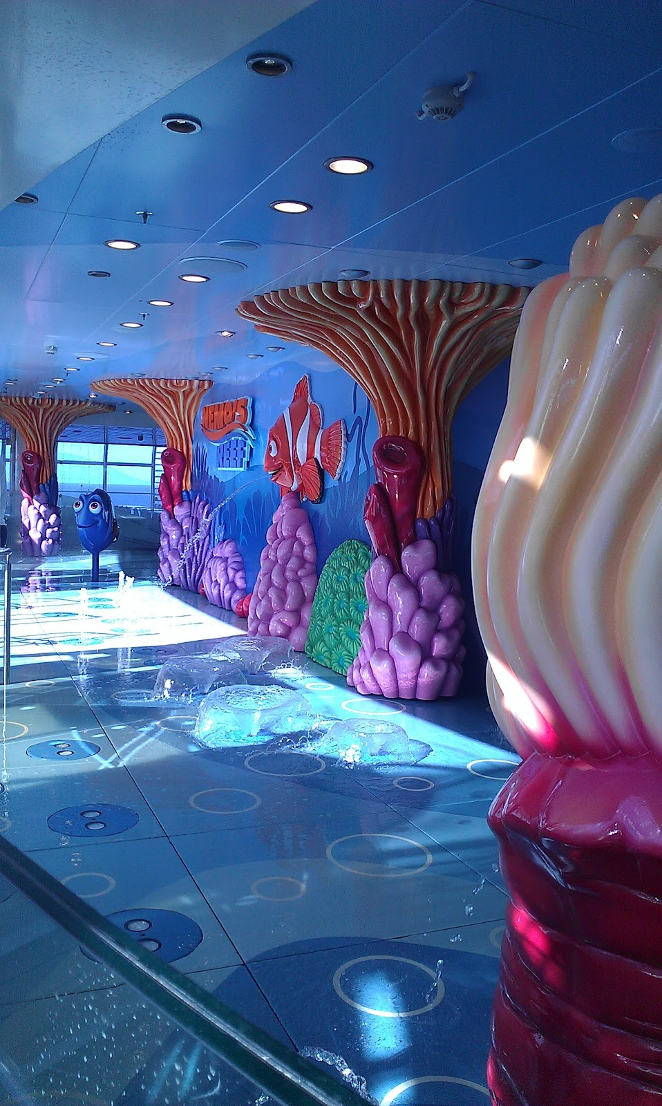 Nemo's splash pad Disney Fantasy Cruise ship