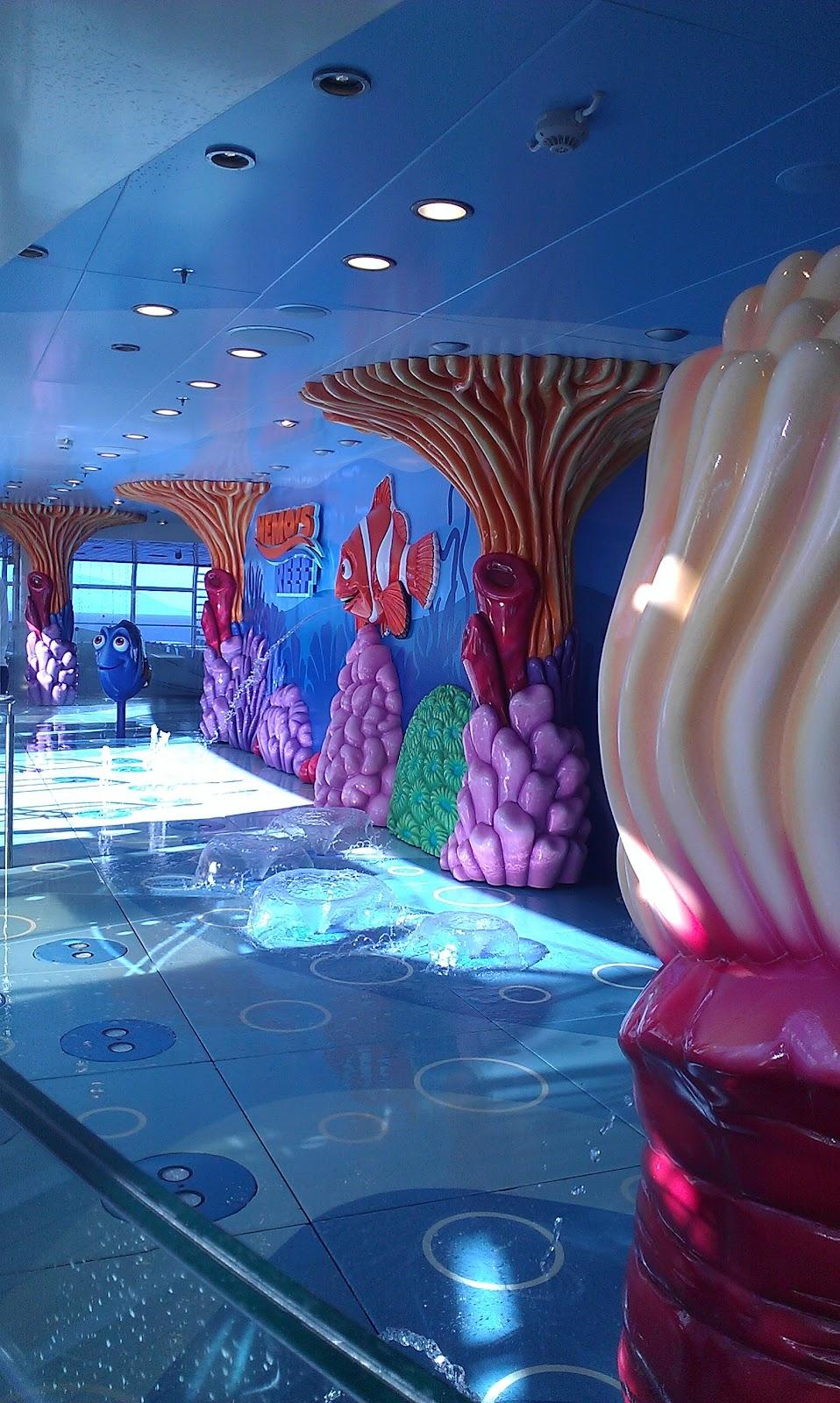 Nemo's splash pad Disney Fantasy Cruise ship