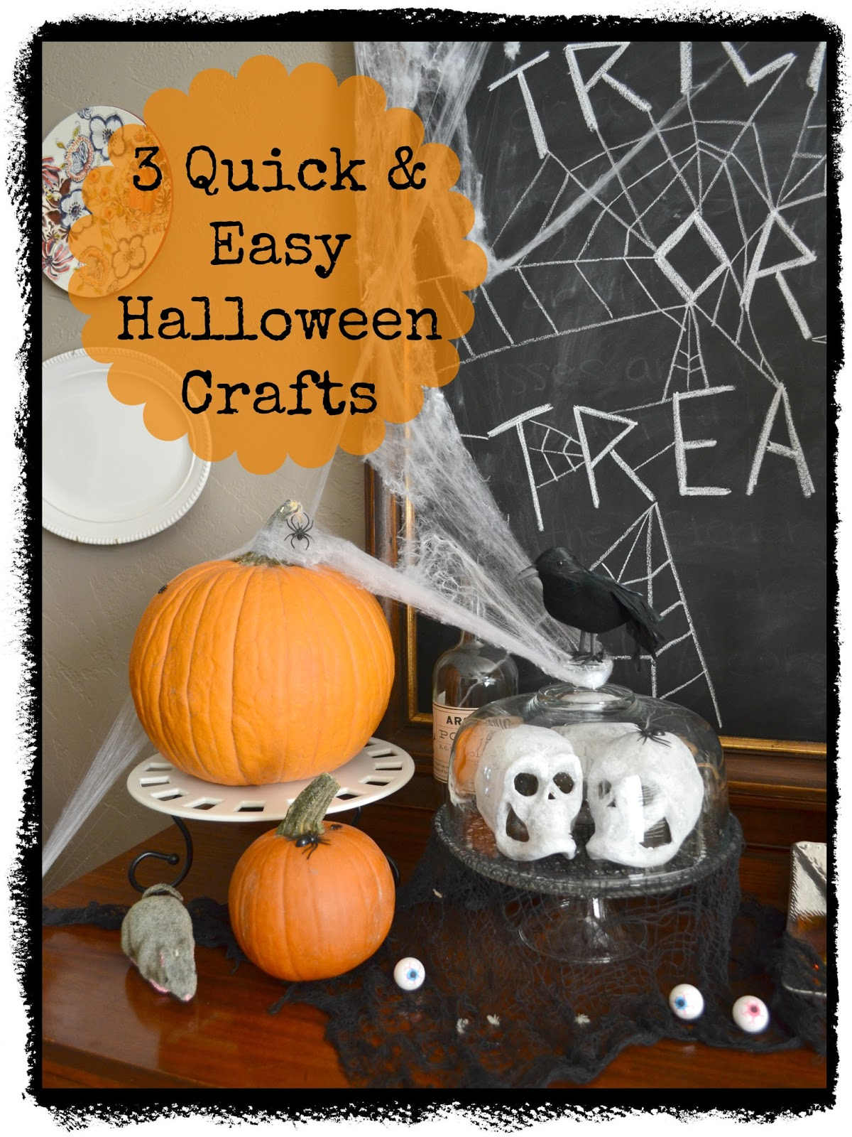 Three Quick and Easy Halloween Crafts Guest Posting at DIY Showoff Halloween Crafts Quick And Easy