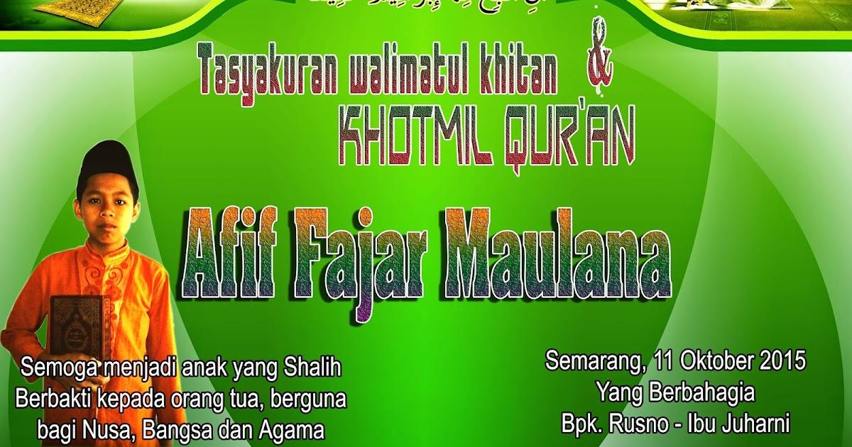 Contoh Background Walimatul Khitan