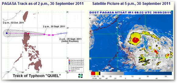 bagyong typhoon quiel October update