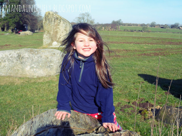 Maisie at Long Meg and Her Sisters, The Lake District.