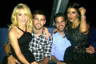 Pique, Shakira, Cesc y Daniella