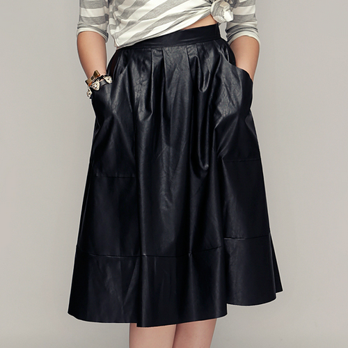 To Die For Faux Leather Skirt