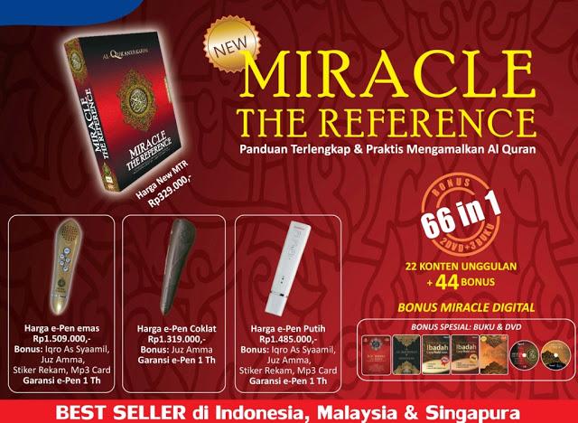 3 Jenis e-pen Pendamping Alquran Miracle The Reference