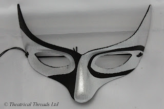 Macumba Black & Silver Masquerade Ball Mask from Theatrical Threads Ltd