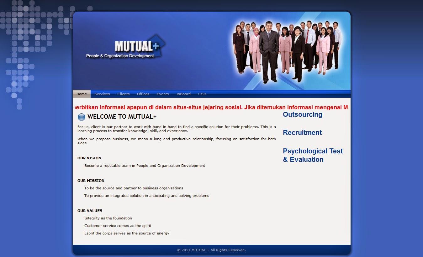 Lowongan Kerja Di Perusahaan Outsourcing Service