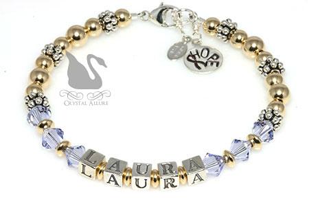 Laura's Custom Epilepsy Awareness Bracelet (B073-EP)